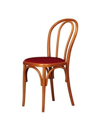 V01, Bugholzstuhl, gepolsterter Sitz, Wiener Stil