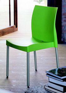 9306 Ice, Stapelbarer Stuhl für Bars und Eisdielen