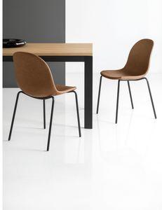 SE 1663, Stuhl mit gepolsterter Schale aus Polyester
