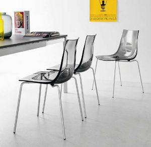Spot, Stuhl mit Schale aus Polycarbonat