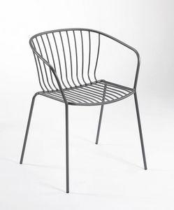 Amitha B, Metallstuhl mit Armlehnen für den Außenbereich