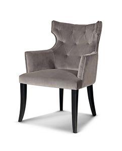 ART. 3291, Gepolsterter Stuhl mit Armlehnen