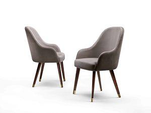 ART. 3329, Stuhl mit Samt bezogen