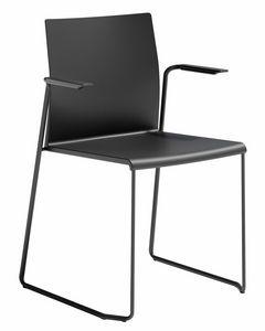 Artesia SS, Stuhl mit Armlehnen, Schlittenfu�