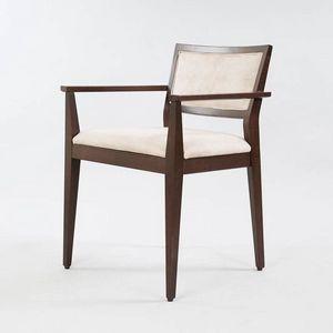 BS513A - Stuhl mit Armlehnen, Holzstuhl mit Armlehnen