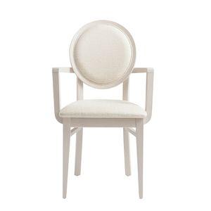 MP49HP, Stuhl mit Armlehnen, mit runder Rückenlehne