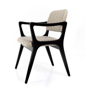 Nelly, Stuhl mit Armlehnen, inspiriert von Art Deco