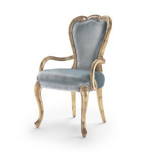 Sessel 9013 LXV-Stil, Gepolsterter Sessel im Stil Louis XV