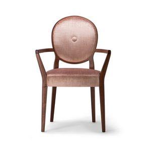 SOFIA ARMCHAIR 045 SB, Stuhl mit Armlehnen, mit runder Rückenlehne