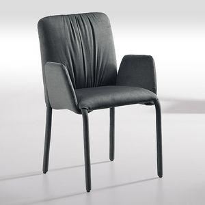 Sunrise-P, Stuhl mit Armlehnen, mit Stoff bezogen