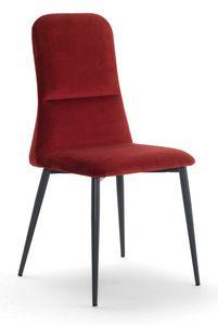Corinne, Gepolsterter Stuhl mit hoher Rückenlehne