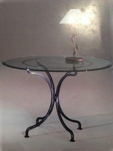 Diva TA/904, Runder Tisch mit Sockel aus Schmiedeeisen