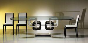 TA39K Tisch, Ring Tisch schwarz und weiß lackiert
