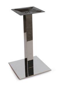 Art. 1037 Kuadra, Tischgestell aus satiniertem oder poliertem Edelstahl