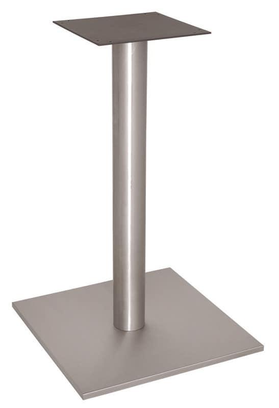 FT 070, Quadratischen Sockel für Stehtisch, Edelstahl gebürstet
