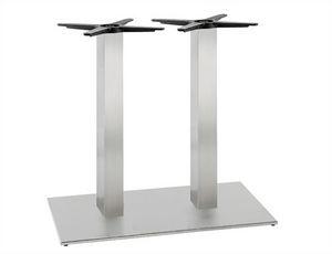 Inox.T 693, Doppeltischgestell, aus satiniertem oder poliertem Edelstahl