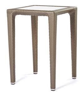 Altea Tisch 1, Stehtisch in gewebten Kunststoff, für Getränkezone