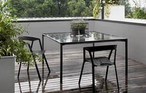 Boiacca quadratischen, Tisch aus Beton, für Außenseite