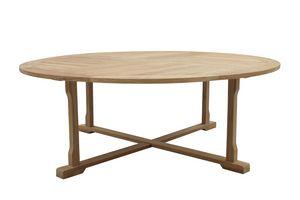 Macao 0439, Riesiger Tisch im Freien aus Teakholz