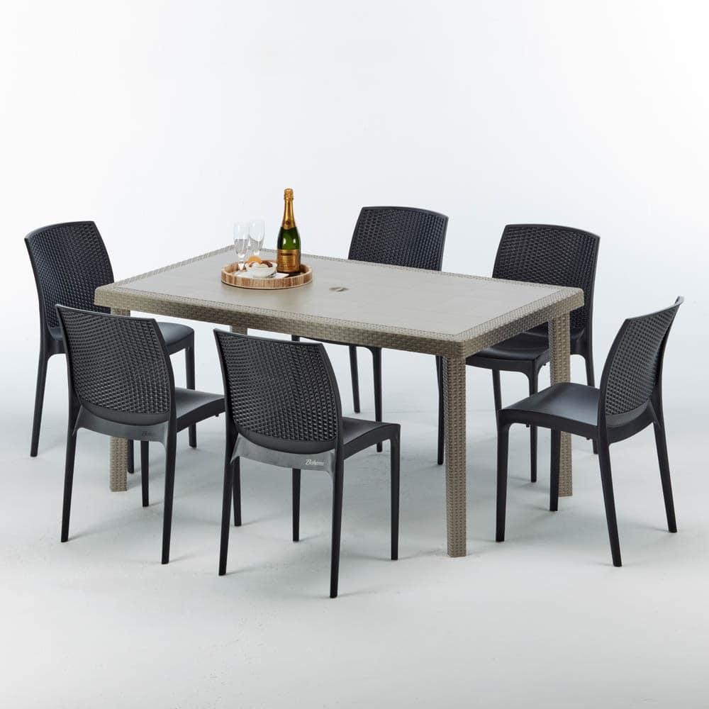Rechteckiger Tisch In Rattan Elegant Und Langlebig Idfdesign