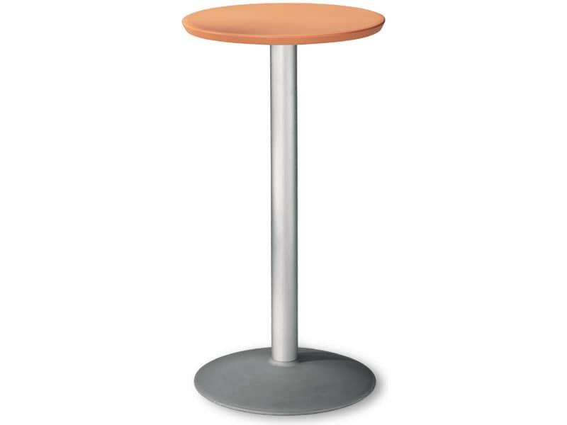Table Ø 60 h 110 cod. 08/BT54, Runde Edelstahl-Tabelle für externe Nutzung