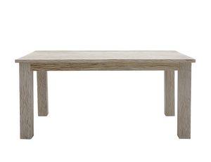 White Sand 6401, Rechteckiger Tisch aus gebleichtem Teakholz