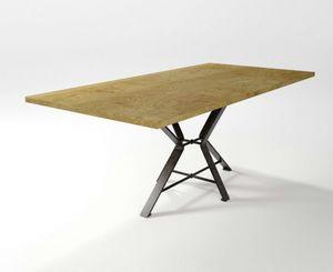 Aix, Tisch mit geschmiedeter Eisenbasis