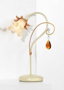 10231, Tischlampe mit Kristallpendel
