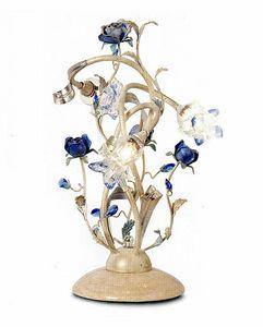 95833, Tischlampe mit dekorativen Blumen