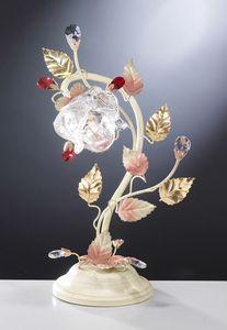 99031, Tischlampe mit Blumenmuster