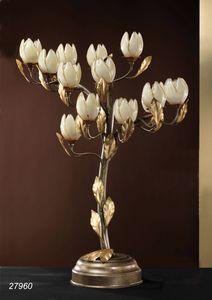Art. 27960 Fior di Loto, Tischlampe aus Messing und mundgeblasenem Glas aus Murano