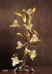 Art. 29860 Jolie, Tischlampe mit dekorativen Glasblumen