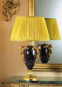 Art. MER 349, Tischlampe aus Marmor und Messing