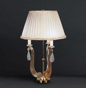 FORMELLE HL1036TA-3, Tischlampe mit Sockel in Ferr