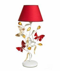 Julia LU/1, Tischlampe mit dekorativen Schmetterlingen
