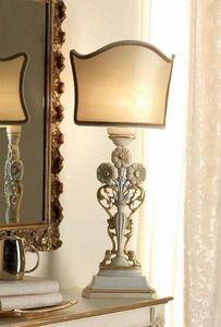 San Pietroburgo Art. ABA02/VSTI02/L43, Tischlampe im klassischen Stil mit Schnitzereien