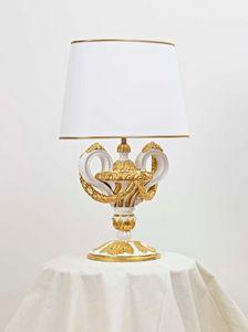 TABLE LAMP ART.LM 0006, Handgeschnitzte Tischlampe