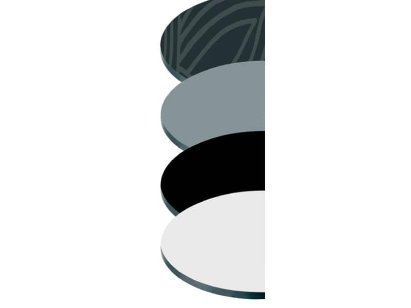 Tops compactop cod. 122 cod. 123 cod. 124 cod. 125, Plan für Stehtisch, in verschiedenen Farben