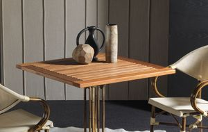Art. 1100-TE Teak, Tischplatte aus massivem Teakholz