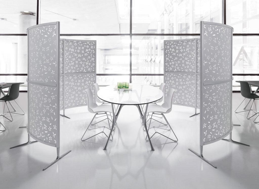 Archimede, Gerade und gebogene modulare Partition für das Büro