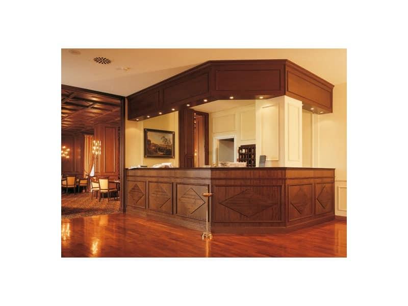 Regency Hotel Reception, Empfangstheke für Hotels, handwerkliche Möbel