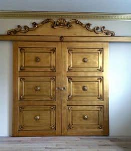 Art. Alexander Tür, Tür für Mauerwerk, reich schnitzen, Blattgold-Finish