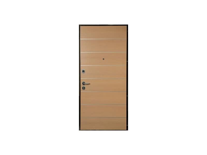 Cernobbio, Sicherheitstür, Eiche gebleicht Holz-Finish, für Hotelzimmer