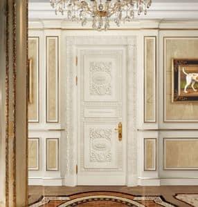 Corona White, Klassische geschnitzte Tür, lackiert und beschichtet
