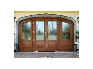 Imperiale Front Door, Eingangstür aus massiver Eiche, unzerbrechlichen Glas, Bodentürschließer
