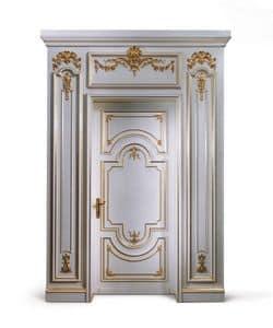 P102 Tür, Holztür weiß lackiert, für klassische Eingang