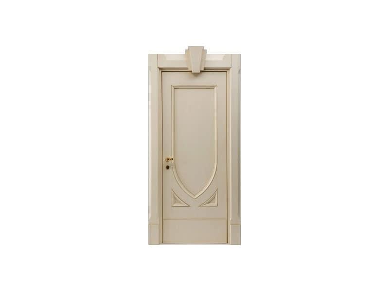 Terminus, Schallschutztür für Hotelzimmer, lackiert Hochglanz-Finish, Panikschloss