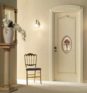 Villa Grabau Art. 713 OV/QQ/A/AP/V, Klassische Tür mit zentraler Dekoration
