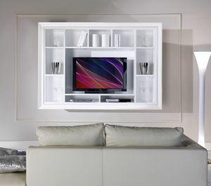 Allegra Living Schrankwand, Hängeschrank für Wohnzimmer