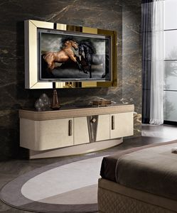 Diamond mobile porta tv, TV-Schrank mit LED-Licht